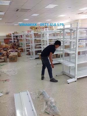kệ siêu thị lắp ghép