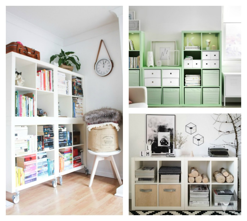 Deco low cost estanter a kallax de ikea blog de - Ideas con muebles de ikea ...