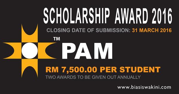 Biasiswa Pertubuhan Arkitek Malaysia 2016 - PAM Inovar Scholarship Award 2016