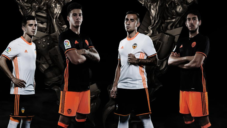 size 40 7331b ee057 Valencia 16-17 Home & Away Kits Released - Leaked Soccer Cleats