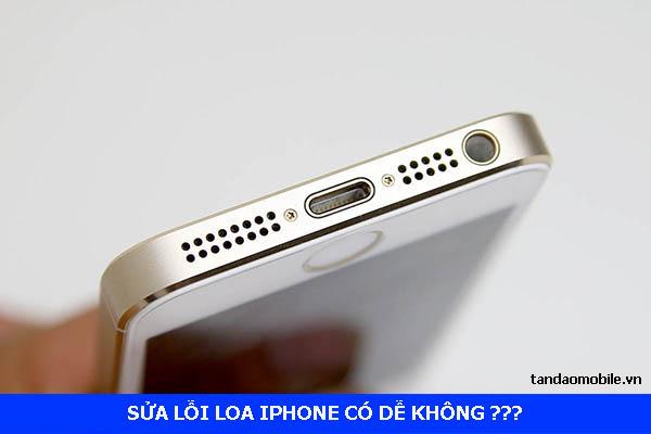 Có thể tự sửa lỗi loa iPhone hay không ??