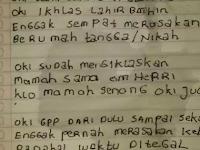 Sebelum Bunuh Diri Loncat Dari Flyover, Begini Isi Surat Wasiat Oki