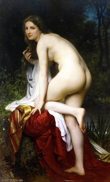 William-Adolphe Bouguereau bagnante - erotismo - arte - nudo femminile