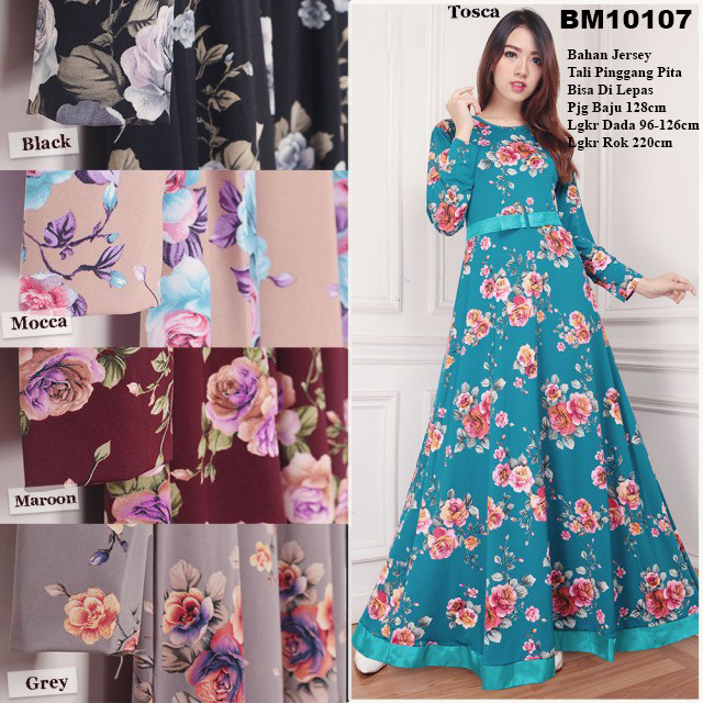 Bursa Grosir Busana Muslim Tanah Abang Bm10107 Long Dress