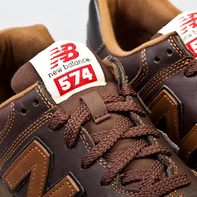new balance 574 marron piel