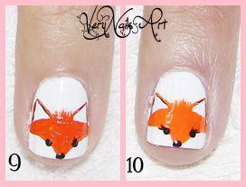 Decoración de uñas con zorro paso a paso 3
