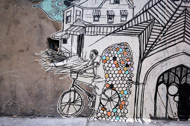 Street Art By American Artist Swoon On the streets of East London, UK. 5