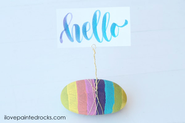 How to turn a painted rock into a photo holder