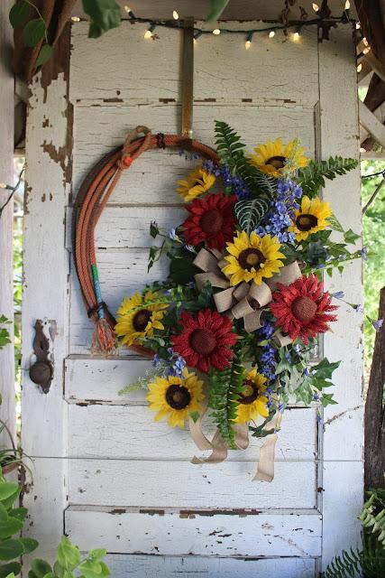 western lasso wreath
