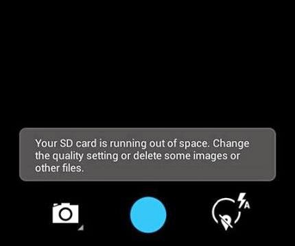 your sd card is running out of space, change the quality setting or delete some image or other files