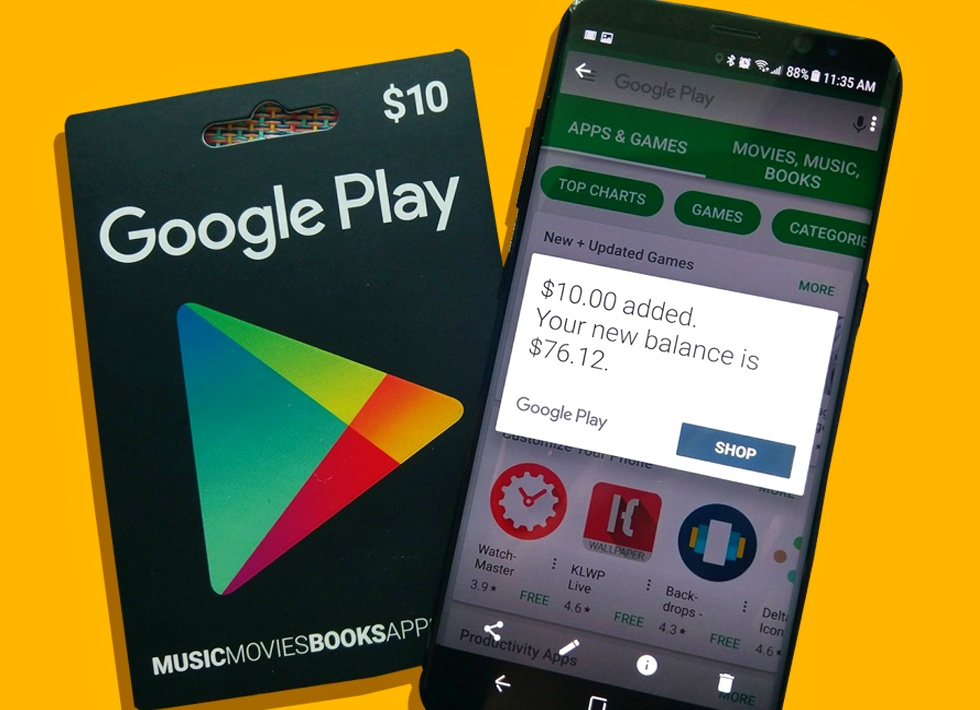 Get Google Play Gift Card & Other Gift cards for more Games