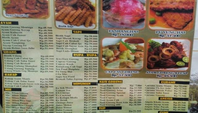 harga makanan restoran 499 bandung