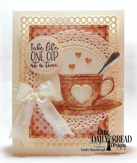 Our Daily Bread Designs Stamp/Die Duos: Hug In A Mug, Custom Dies: Cups & Mugs, Fancy Circles, Pierced Rectangles, Pierced Circles, Mini Cups & Mugs, Circle Scalloped Rectangles, Paper Collection: Blushing Rose