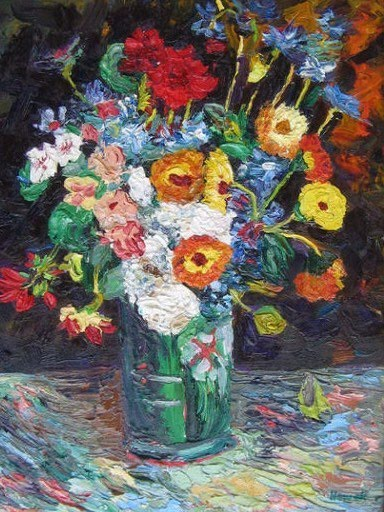 Richard Nowak Fine Art Van Gogh S Vase Of Flowers