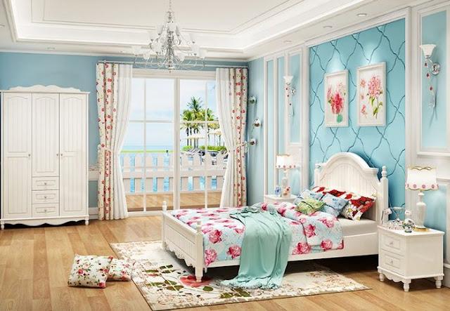 Giường ngủ gỗ công nghiệp MDF cho bé trai và bé gái