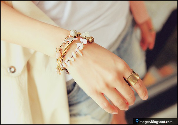 Fashion, girl, hand, bracelets, ring