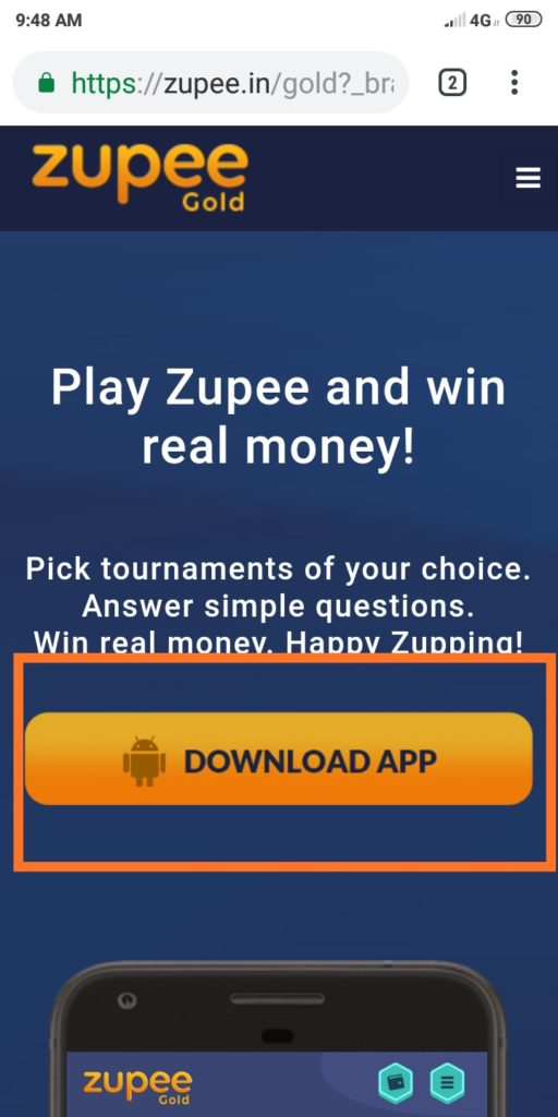 ₹50 Proof) Free ₹15 PayTM Cash From Zupee App (₹10/Refer) - SALE WALA