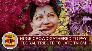 Detailed Report | Huge crowd gathered at Marina to pay floral tribute to late TN CM Jayalalithaa