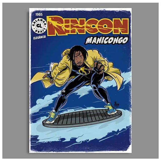 Rap em quadrinho - Rincon Sapiência é retratado como Super Shock