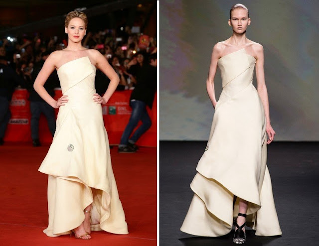 Jennifer Lawrence in Christian Dior Couture – 'The Hunger Games: Catching Fire' Rome Film Festival Premiere