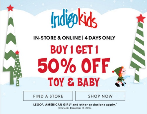 Chapters Indigo BOGO Toy & Baby Sale