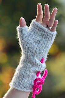 Ruched Mitts