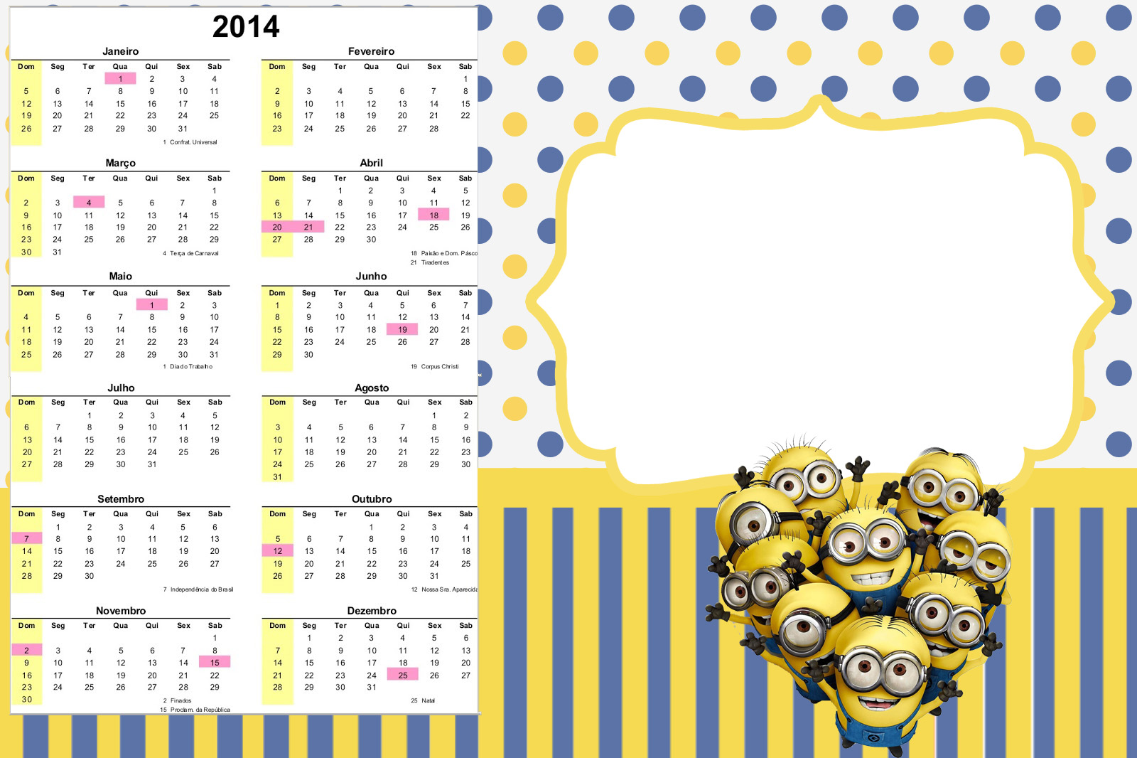 Minions Free Printable Party Stationery