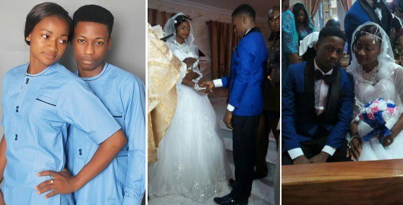 WOW! 18yrs Old Boy Weds His 17yrs Old Fiance In Abia State (See Photos)