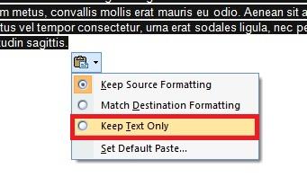 Cara Menghilangkan Warna Background Tulisan Hasil Copy-Paste di Microsoft Word