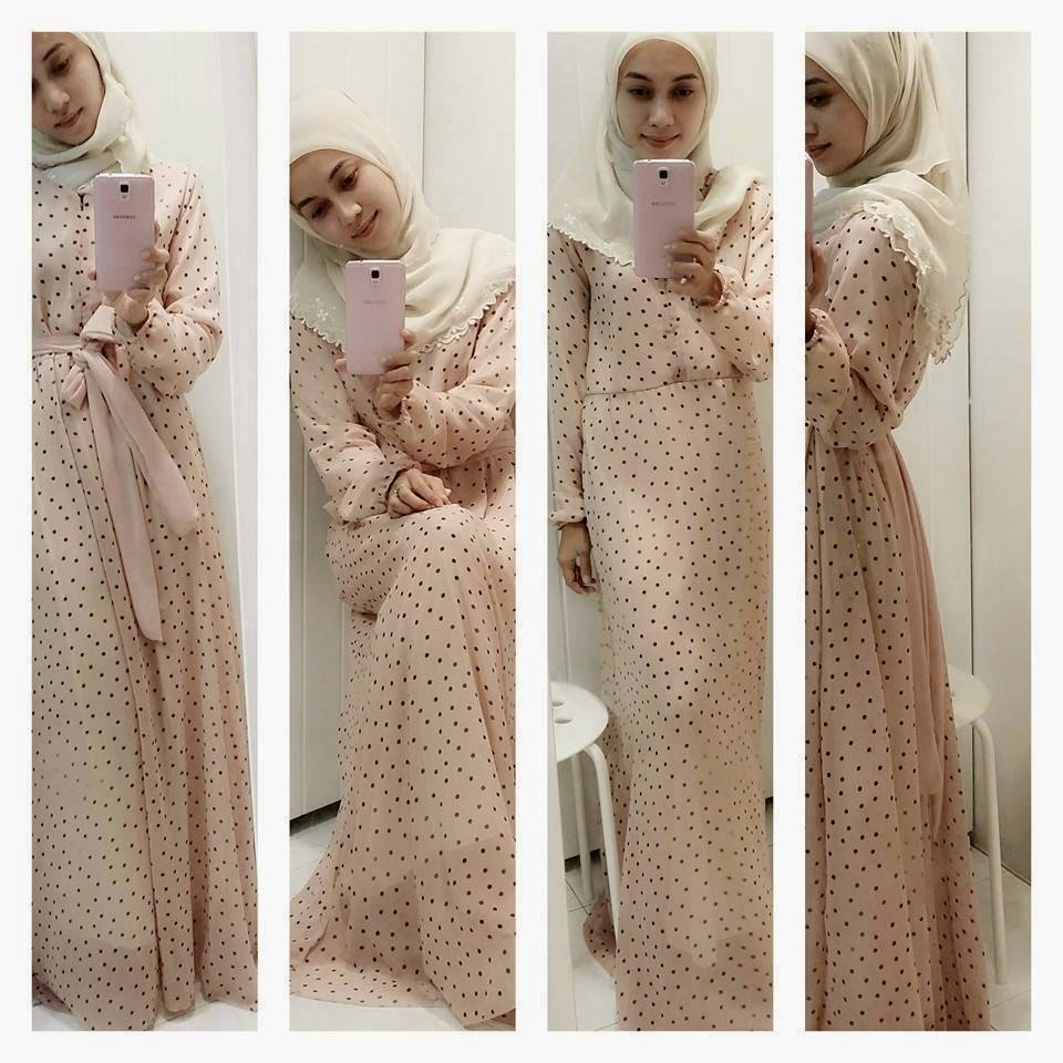 c08b9889e7ff Dress Muslimah Cantik: ZARA POLKA DRESS (restock!!!)