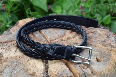 Cintura da uomo in cuoio intrecciato fatta su misura e personalzzabile