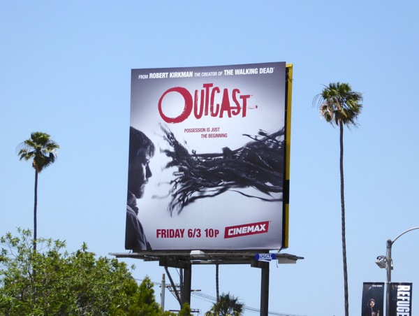 Outcast series launch billboard