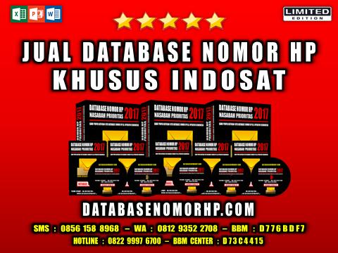 Jual Database Nomor HP Khusus Indosat