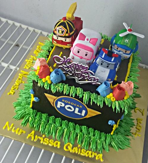 Amber Robocar Poli Cake