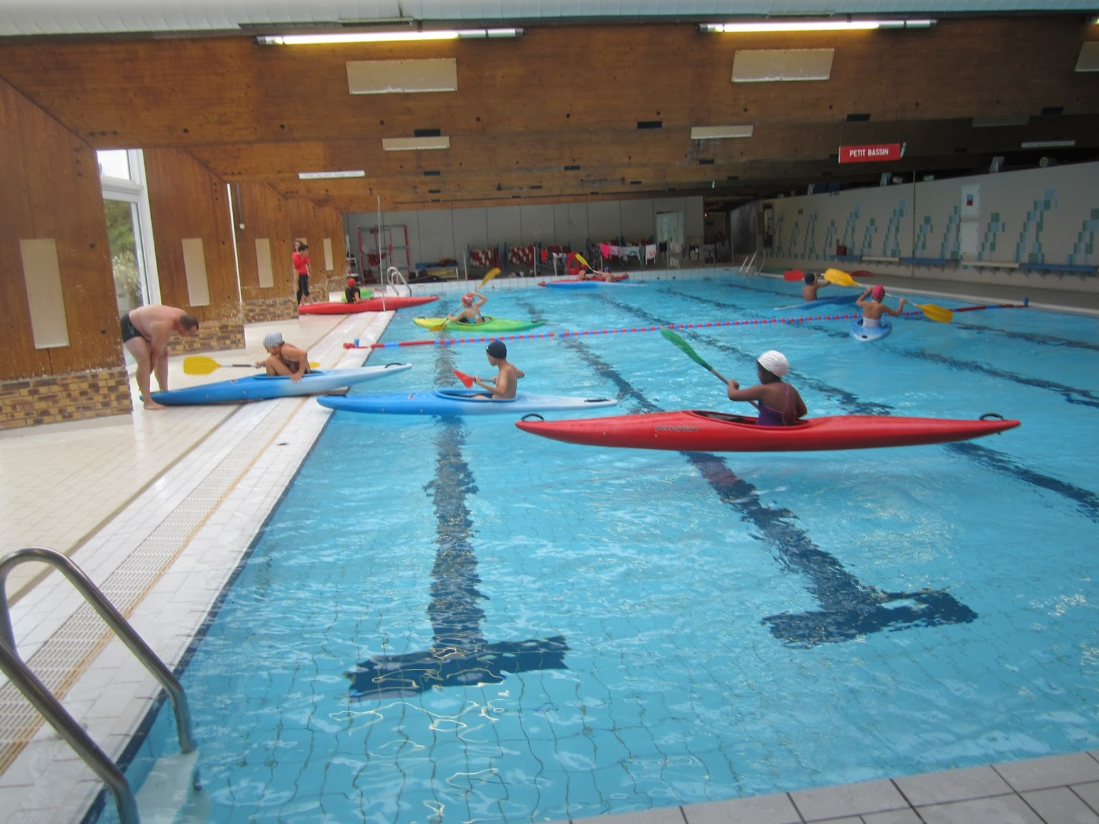 St andr classe de cm2 kayak test piscine for Test de piscine