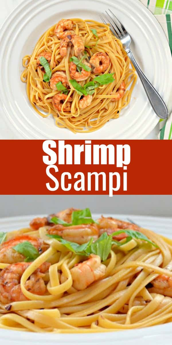 Linguine Shrimp Scampi Pasta recipe is a super easy dinner. An easy Shrimp Scampi Recipe great for a busy weeknight or company from Serena Bakes Simply From Scratch.