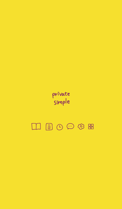 Private simple -mustard-