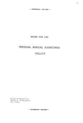 Unusual Aerial Sightings Policy (Cover Page)