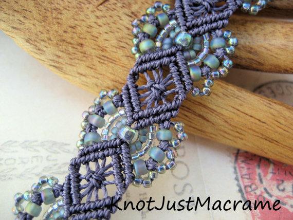 Micro Macrame Hydrangeas bracelet class by Sherri Stokey.