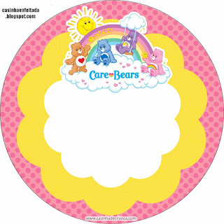 Toppers o Etiquetas para Fiesta de Care Bears para imprimir gratis.