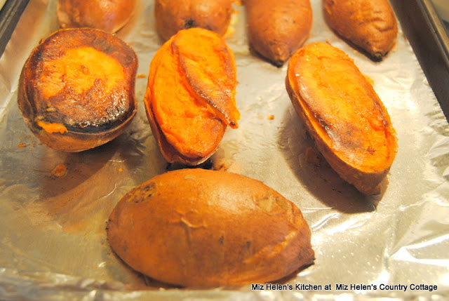 Roasted Sweet Potatoes with Marshmallow Topping at Miz Helen's Country Cottage