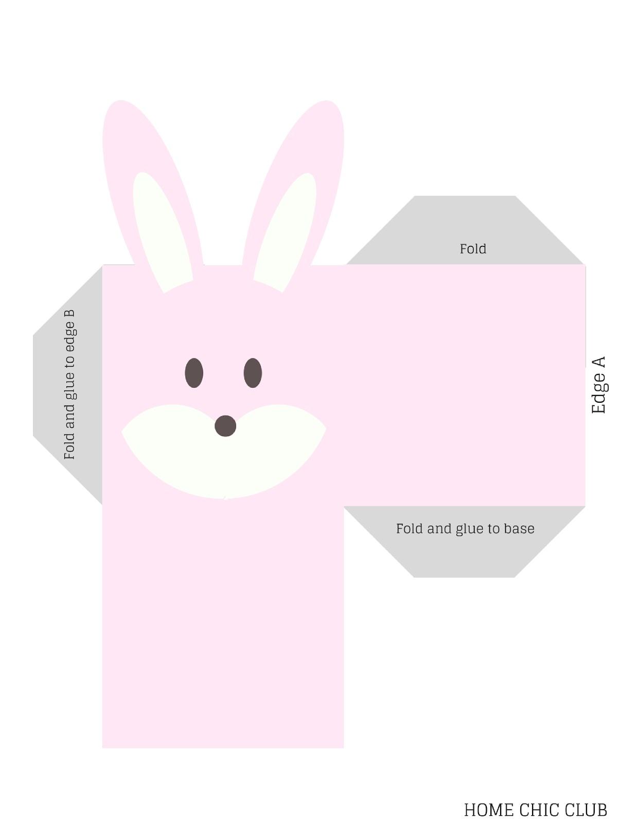 diy printable easter bunny box home chic club diy printable