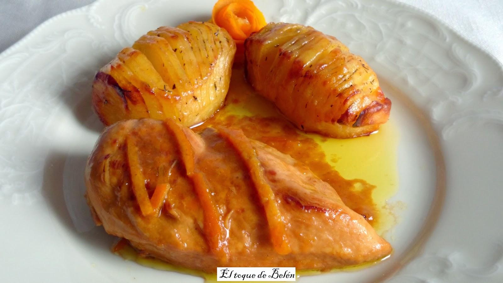 El toque de bel n pechugas de pollo en salsa de naranja y - Platos con pechuga de pollo ...