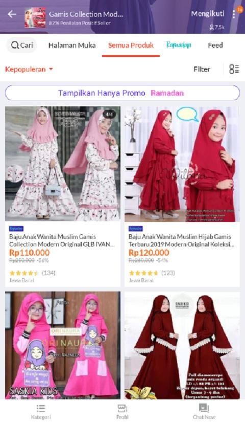 Gamis Collection Modern Sebagai Toko Baju Muslim Anak Terlaris di Lazada