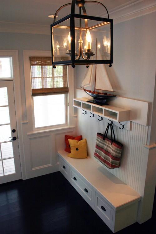 Lighting Basement Washroom Stairs: Mudroom Shelves Chandelier Cubby White Light Fixture