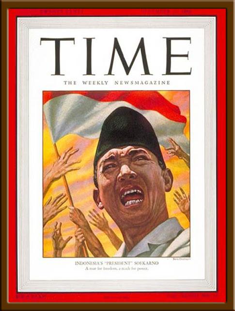 Gambar Soekarno menjadi sampul majalah Time