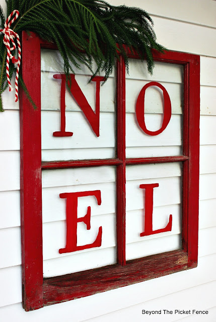 easily paint a Christmas sign on an old window