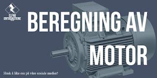 Beregning av motor