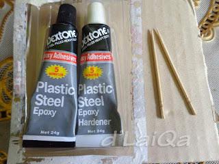 plastic steel dan lidi