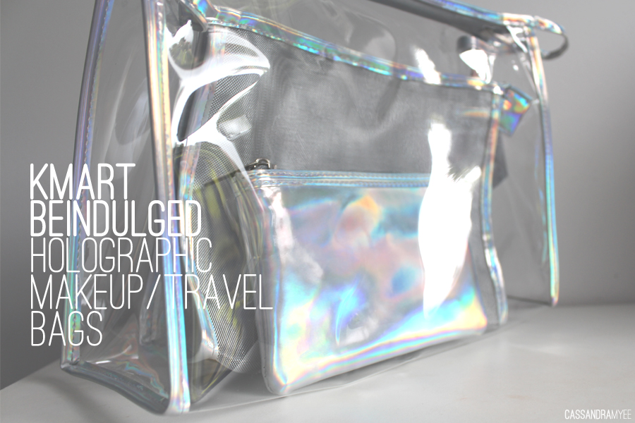 Kmart Be Indulged 12 Holographic Clear Makeup Travel